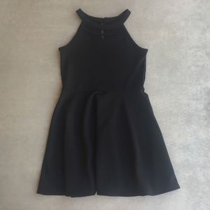 Girls Black Halter Neck Dress